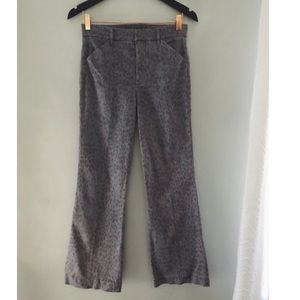 Level 99 leopard print cropped chinos size 27.